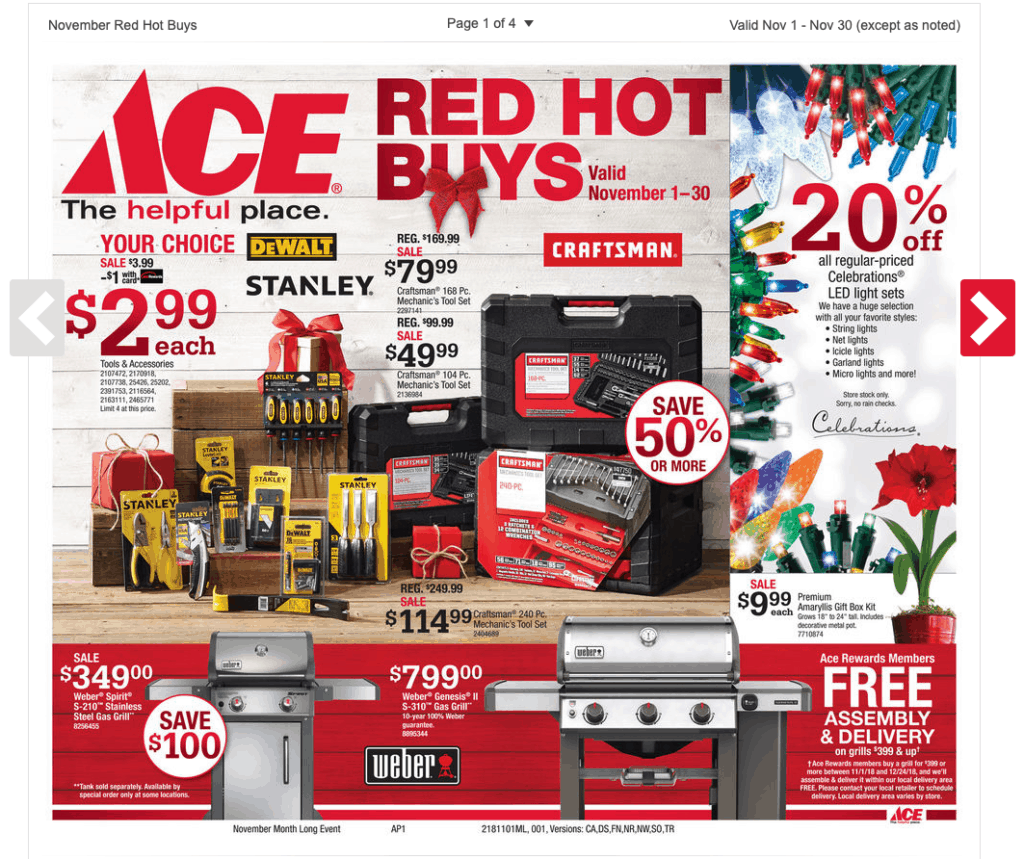 Ace Hardware Jackson TN November Specials