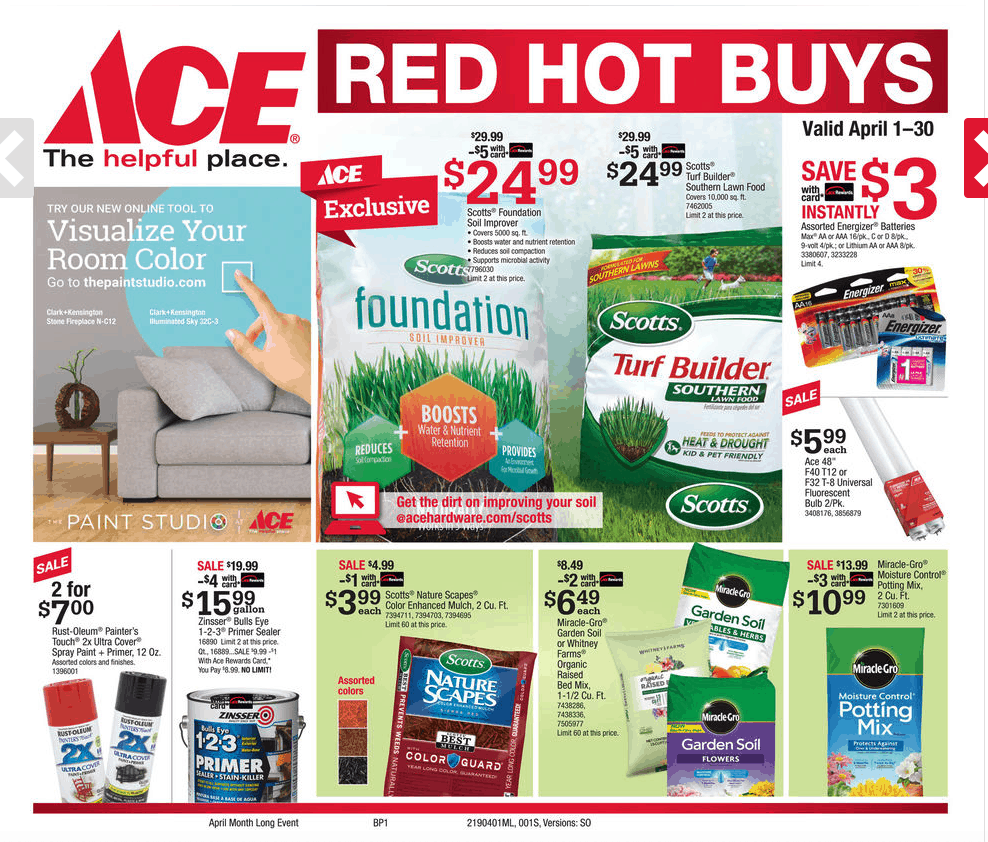 Ace Hardware Jackson TN April Specials