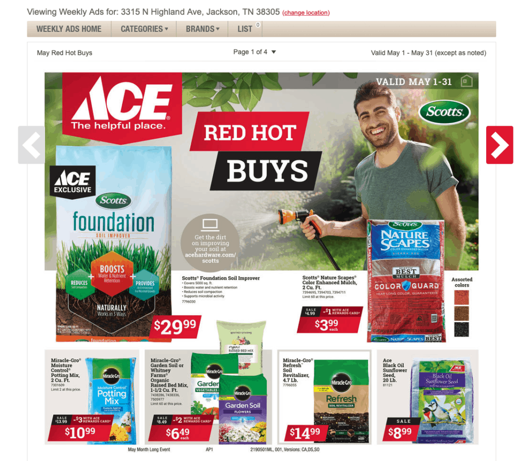Ace May Specials