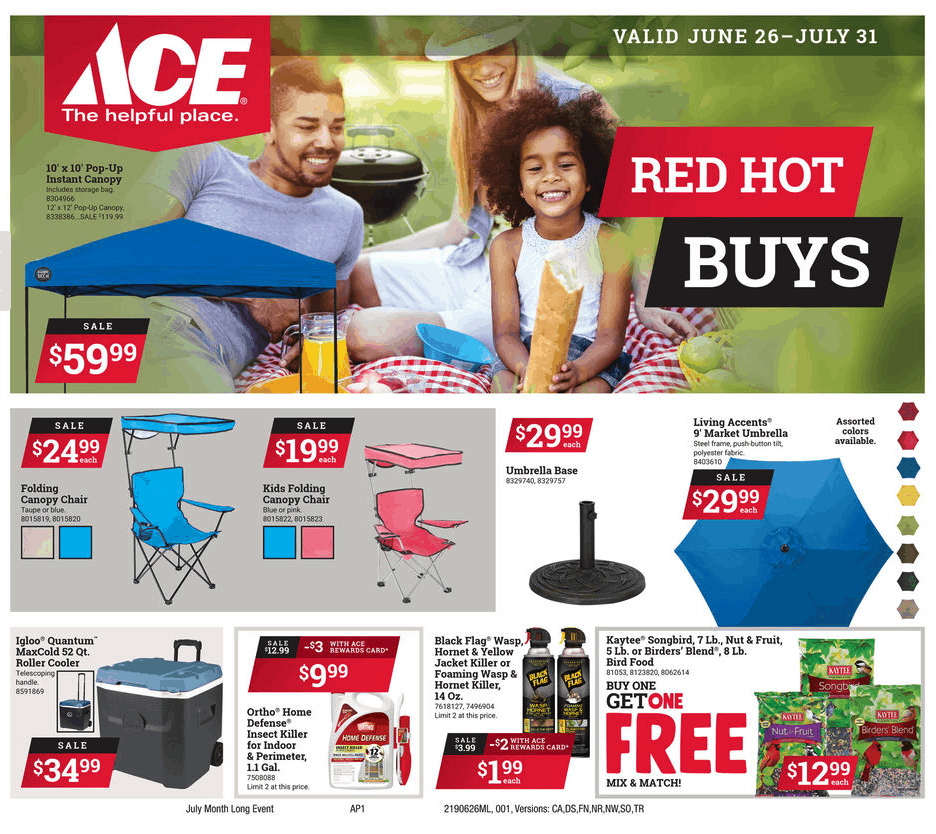 Ace Hardware July Specials