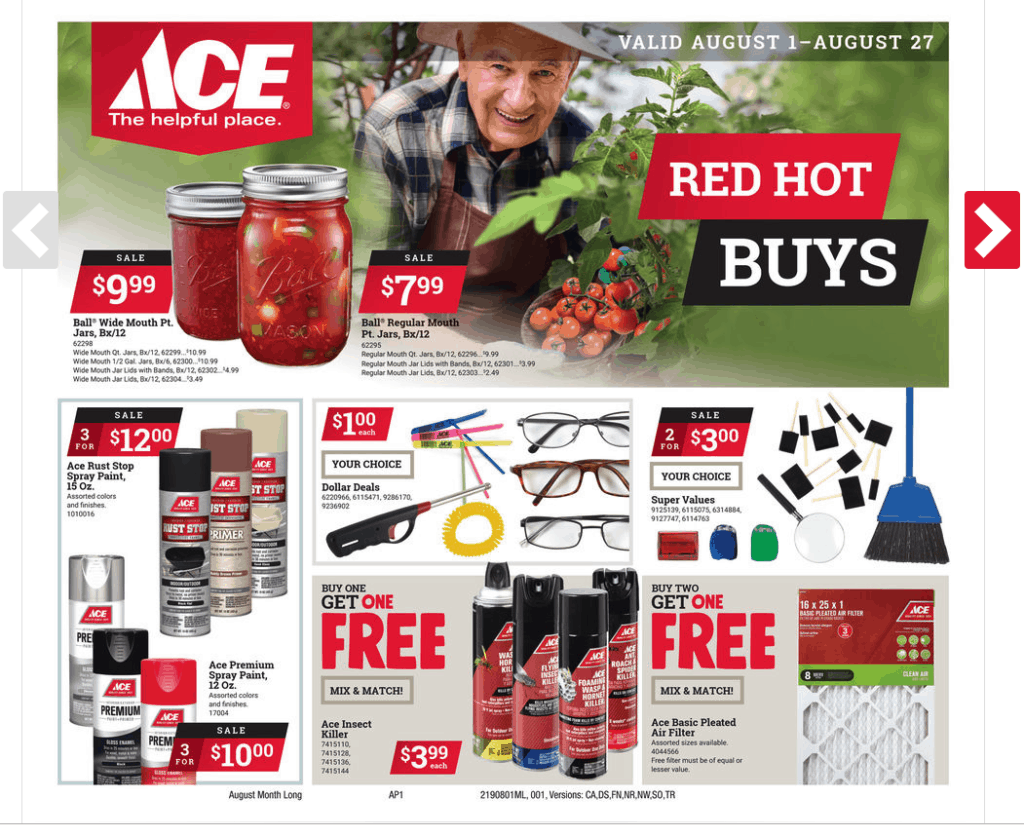 Ace of Jackson August Sales Flyer