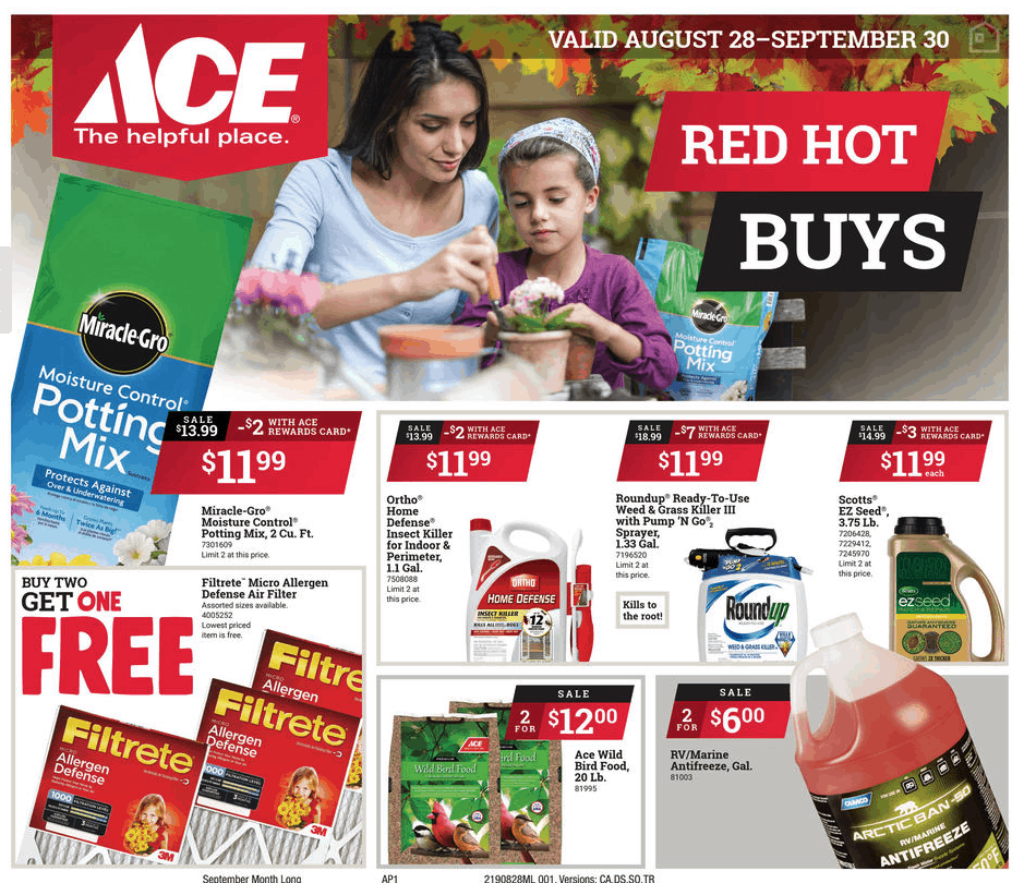 Ace of Jackson September Sales Flyer
