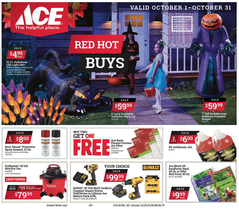 October Sales and Ace Hardware Jackson TN