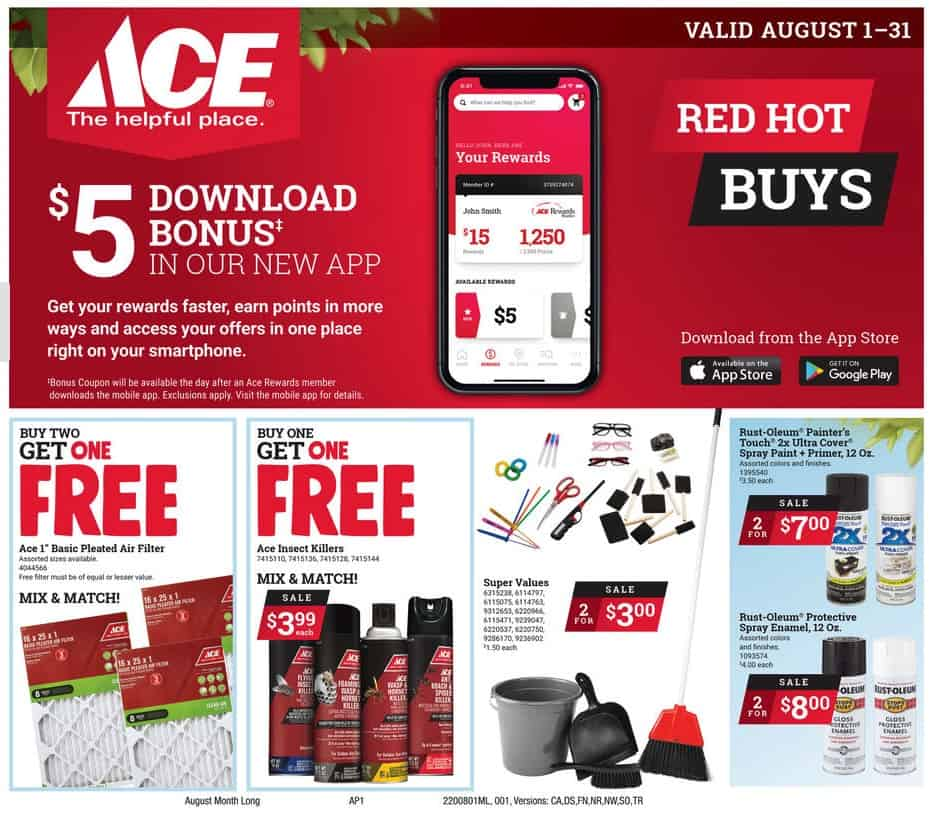 Ace Hardware August Sales