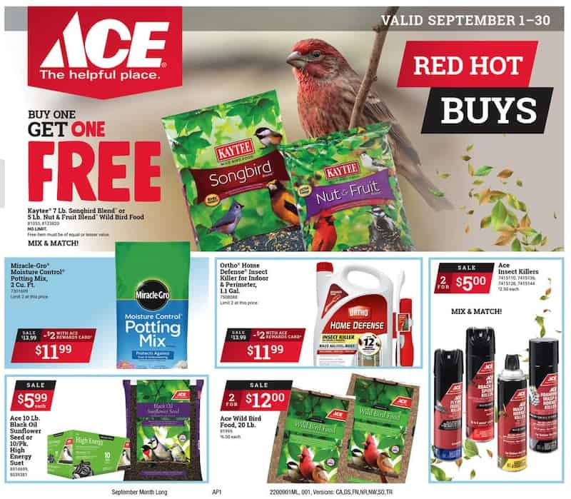 Ace Hardware Potting Mix, Bird Seed