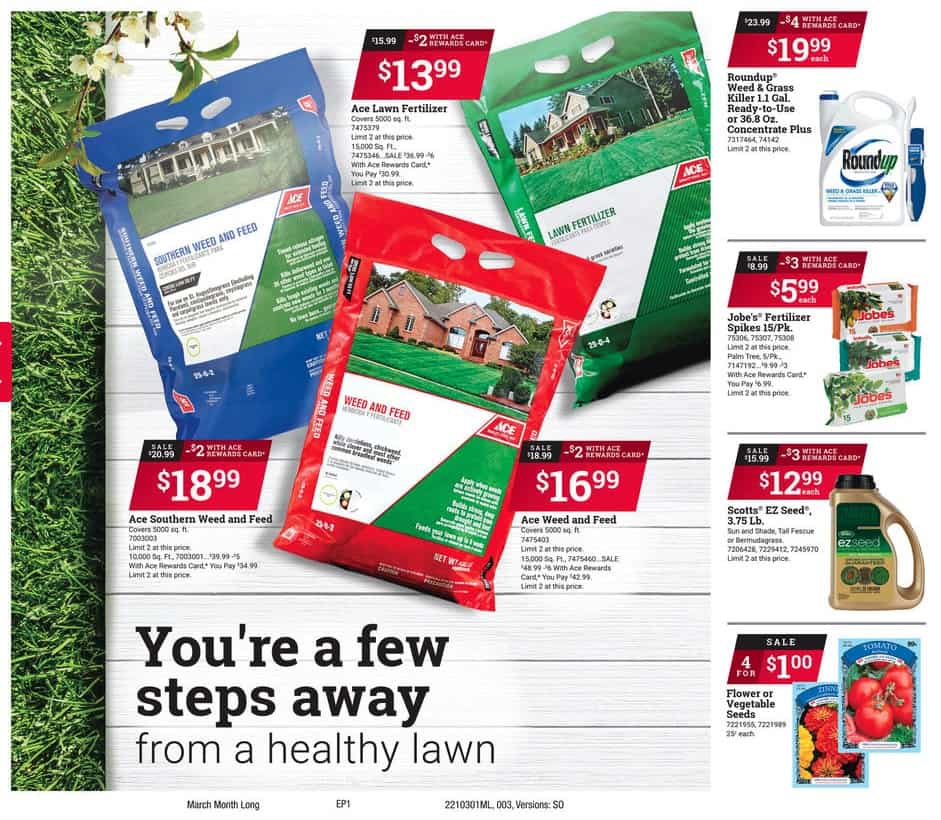 Weed and Feed Ace Hardware